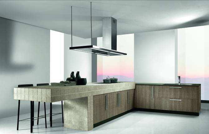 aspiration maxi pour un design minimaliste avec la hotte falmec luma isola 175 cm. Black Bedroom Furniture Sets. Home Design Ideas