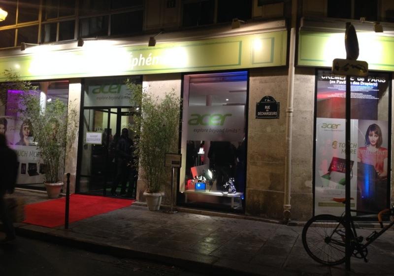 La boutique éphèmère d'Acer au coeur des Halles à paris