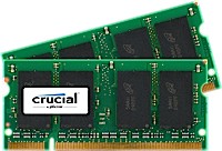 Kit Crucial DDR2 PC2-5300 4GB (2GBx2)