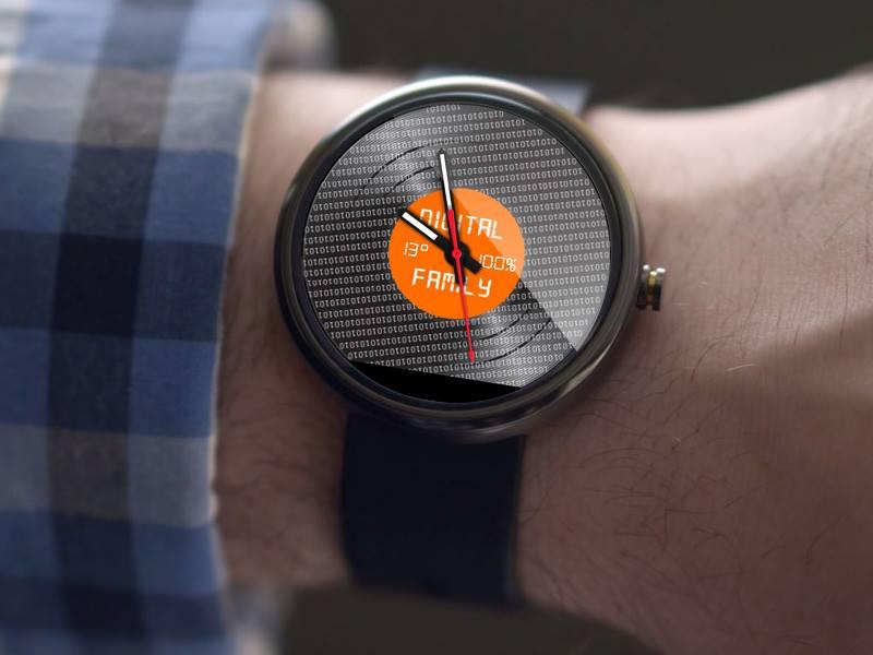 L'application Android Facer permet de réaliser un design de montre à façon. Celui-ci a été créé par le site www.badapps.fr