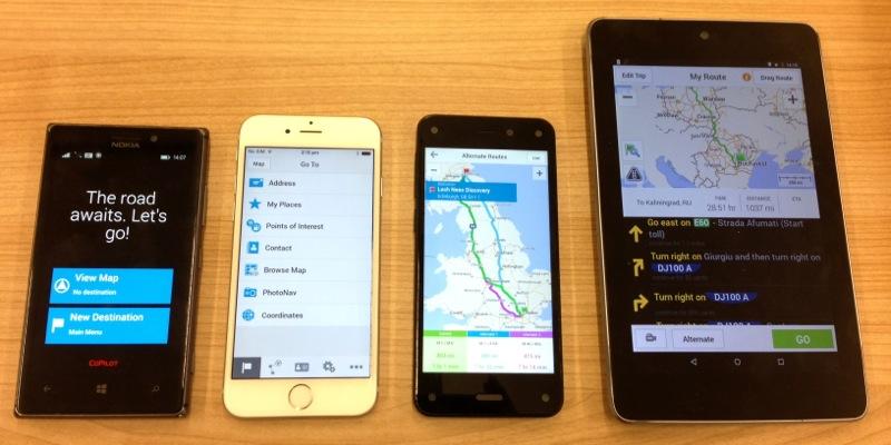 CoPilot peut être installé sur les Smartphones Android, iOS, Windows Mobile et Amazon Fire