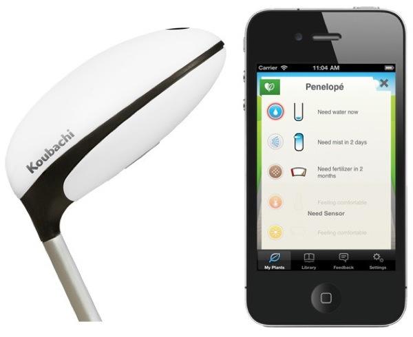 Le Plant Sensor de Koubachi,<br>un jardinier connecté à votre Smartphone