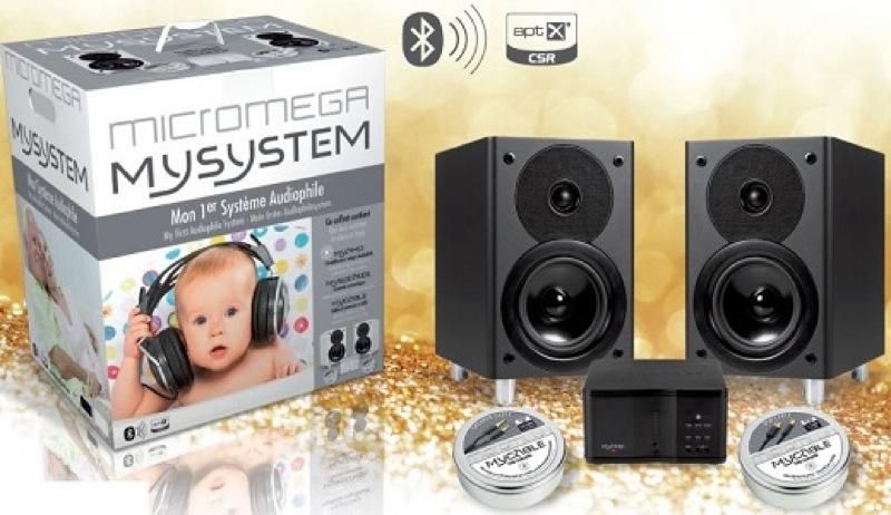 Le pack MySystem de Micromega comporte l'ampli MyAmp, les enceintes MySpeaker et les câbles MyCable pour enceintes et USB