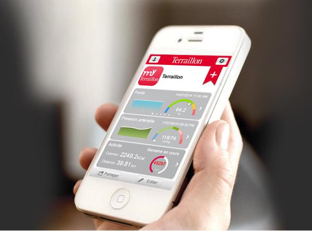 Les appareils connectés de Terraillon transmettent leurs données à l'application My-Terraillon via Bluetooth