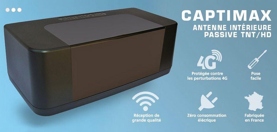 Passive, elle n'a pas besoin d'être alimentée, mais surtout la CAPTIMAX<br>n'est pas perturbée par les ondes de la 4G, et bientôt de la 5G