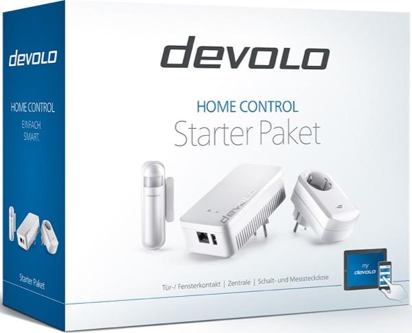 Le kit de démarrage Home Control de Devolo est constitué d'une unité centrale, un capteur d'ouverture et une prise intelligente