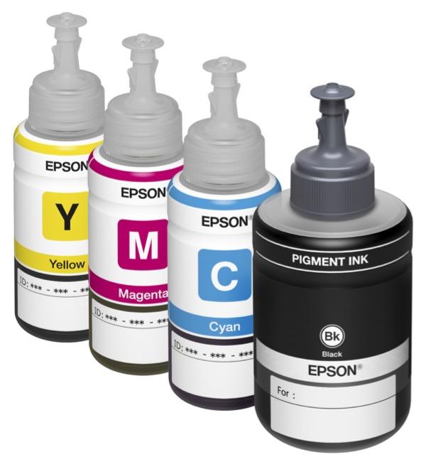 Les bouteilles de recharge d'encre sont disponibles en capacité 70 ml et 140 ml