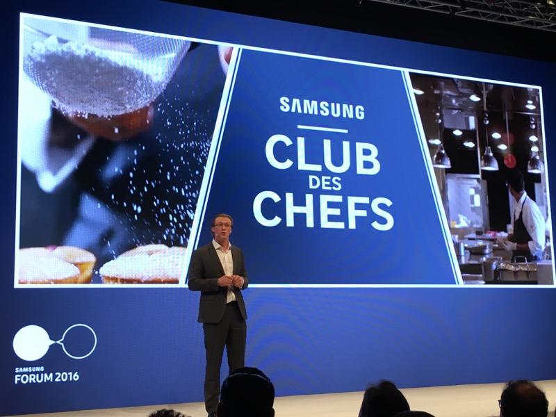 Samsung s'est associé avec le Club des Chefs pour animer son département cuisine