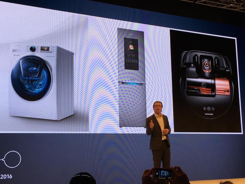 Que ce soit le lave-linge, le réfrigérateur ou l'aspirateur robot, Samsung connecte tous ses produits électroménager
