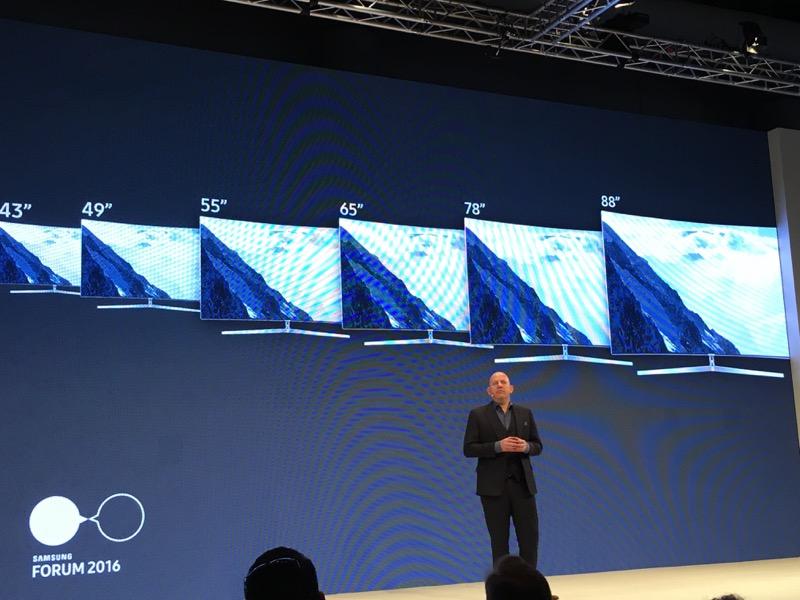 La nouvelle gamme SUHD 2016 se dote d'écrans de 43 à 88 pouces
