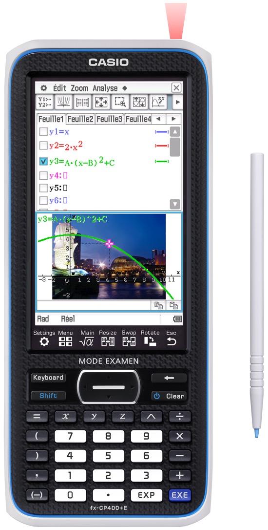 La Casio FX400e pour les lycéens et les études supérieures, comporte un mode examen