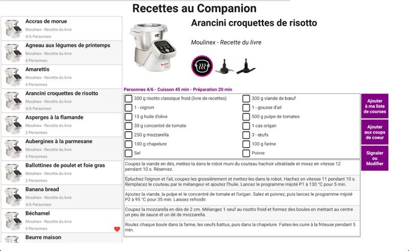 L'utilisateur peut désormais gérer, surveiller et accéder à plus de 500 recettes de son i-Companion, depuis son Smartphone ou sa tablette