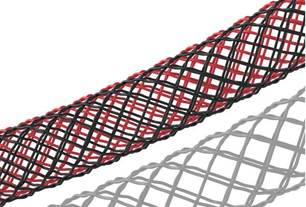 La tresse est composée de 20 fils de nylon tissés apportant robustesse et meilleure prise en main