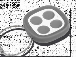 La télécommande universelle Noé peut copier jusqu'à 4 télécommandes