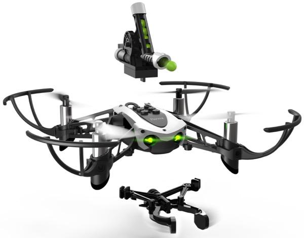 Le Parrot mambo est un minidrone qui peut être équipé d'accessoires complémentaires pour augmenter le plaisir d'y jouer.