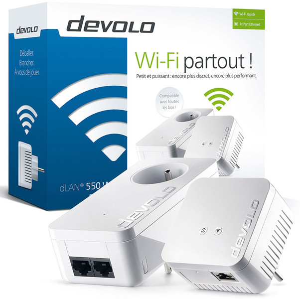 Devolo dlan 550 wifi starter kit cpl une solution cpl wifi pratique prix abordable - Branchement livebox telephone ...
